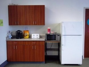 Microwave and Refrigerator Area of the Lounge