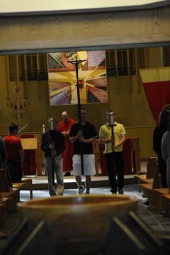 Mass in Xavier's Bellarmine Chapel