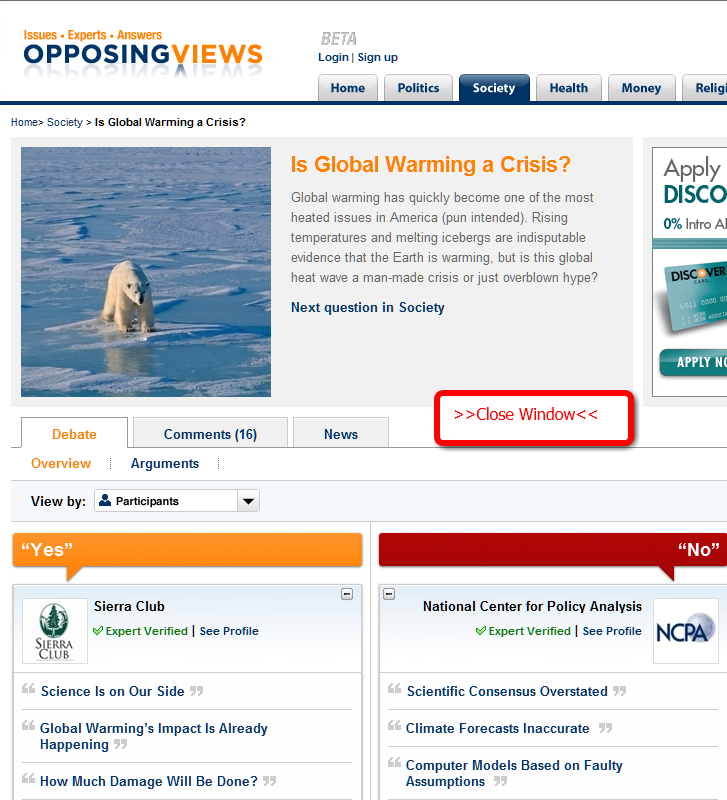 global warming opposing viewpoints essays
