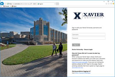 Canvas Authentication - Mobile App | Xavier University